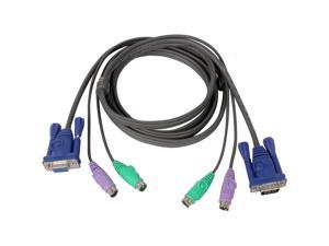 IOGEAR 10 ft. All-In-One Micro-Lite Bonded KVM Cable, PS/2 G2L5003P