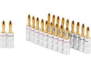 Coboc BA-SETSCREW-10P High-Quality Copper Speaker Banana Plug,Set Screw Type,10 Pair Per Package