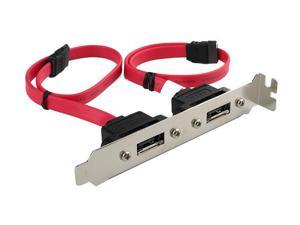 Rosewill RC-202 Internal SATA to eSATA External 2 Port Host Bracket Cable 11""
