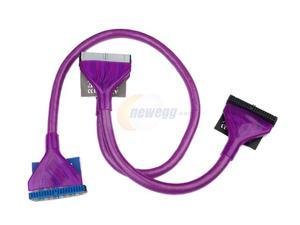 "Rosewill RCW-418 36"" /ATA 100/133 Round Cable /UV Purple"