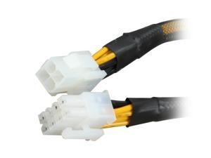 "Rosewill 9.5"" EPS 8-Pin Male to ATX 4-Pin Female Cable with Cable Sleeve Model RCA-RU9.5-P8M-P4F"