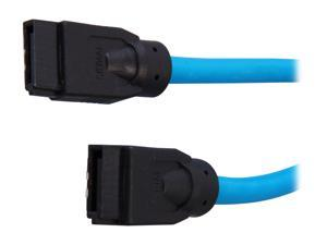 "Rosewill RCAB-11046 36"" SATA III Blue Round Cable w/ Locking Latch, Supports 6 Gbps, 3 Gbps, and 1.5 Gbps Transfer Rate"