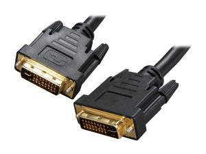 Rosewill RCDV-11001 Black 3 ft. DVI-I Male to DVI-I Male M-M DVI-I Male to DVI-I Male Cable w/ Dual Ferrites Cores
