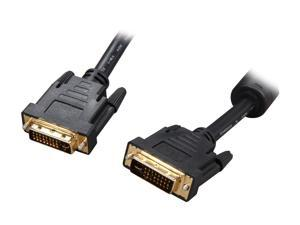 Rosewill RCDV-11003 Black 10 ft. DVI-I Male to DVI-I Male M-M DVI-I Male to DVI-I Male Cable w/ Dual Ferrites Cores