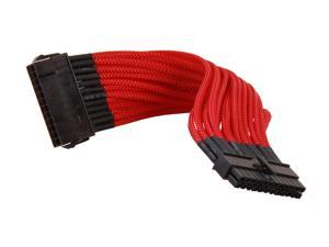 "Rosewill RCDV-12006 - 9.84"" Single Sleeve 24-Pin Motherboard Extension Cable - Male to Female"