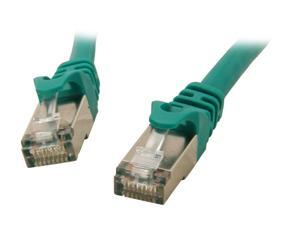 Rosewill RCNC-12025 - 1-Foot Green Cat 6A Shielded, Screened Twisted Pair (S / STP) Enhanced 550MHz Network Ethernet Cable
