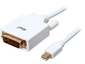 Rosewill 6-Foot White Mini DisplayPort to DVI Cable