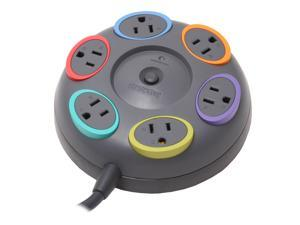 Kensington 62634 16 Feet 6 Outlets 1500 joules SmartSockets Table Top