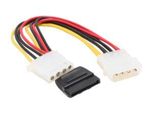 "OKGEAR Model GC8ATAMFL 8"" molex 4pin male to 15pin SATA power and molex 4pin female Cable"