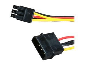 "OKGEAR FC46-8 8"" MOLEX 4 pin to PCI-E 6 pin cable"