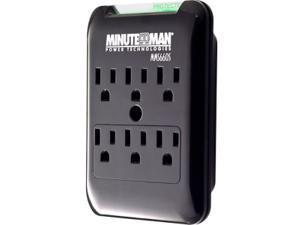 Minuteman SlimLine MMS660S 6-Outlets Surge Suppressor