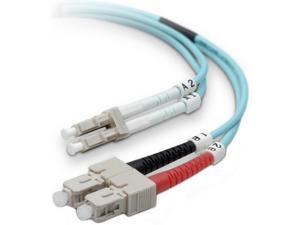 Belkin F2F402L7-02M-G Fiber Optic Cable&#59; 10GB Aqua Multimode LC/SC Duplex MMF, 50/125