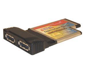 SYBA SD-PCBX-ESA2 PCMCIA SATA2 ExpressCard 2x e-SATA Host Controller