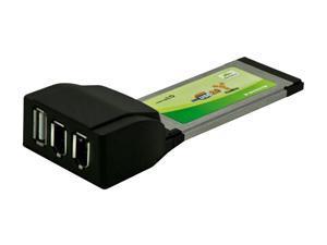 SYBA SY-EXPC34-2F1U 1 Port USB 2.0 / 2 Port 1394a ExpressCard