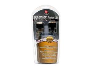 Link Depot LD-DVI15DVI Black 15 ft. DVI to DVI Cable