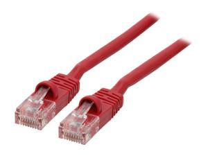 Link Depot C5M-50-RDB 4.17 ft Cat 5E Red Network Ethernet Cable