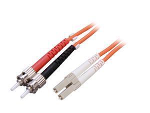 Link Depot FOM6-LCST-1 3.28 ft. (1m) Multimode 62.5/125 Duplex Fiber Patch Cable LC - ST
