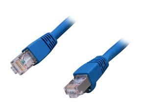 Link Depot CA6S-1-BUB 1 ft. Cat 6A Blue Shielded STP Style Molded Network Ethernet Cables