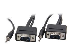 Link Depot SVGA-35-SA 35 ft. Slim VGA Plus Stereo HD15 Cable