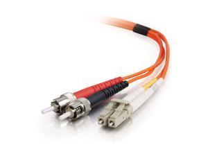 C2G 33163 1m LC/ST Duplex 62.5/125 Multimode Fiber Patch Cable - Orange