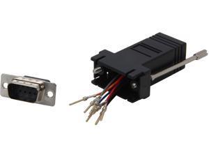 C2G 02947 RJ45 to DB9 Male Modular Adapter - Black