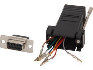 C2G 02943 RJ45 to DB9 Female Modular Adapter - Black