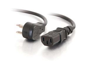 Cables To Go Model 27901 3 ft. 18 AWG Universal Flat Panel Power Cord (NEMA 5-15P to IEC320C13)