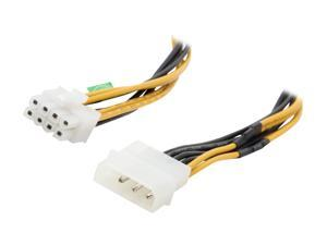 "Athena Power Cable-AD4/8Pin 8"" 4pin (HD MALE) to 8pin (EPS-12V Female) Convertor"