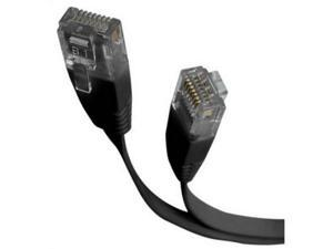 StarTech FLAT45BK10 10 ft. Cat 5E Black UTP Patch Cable