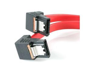"StarTech LSATA18RA2 18"" Latching SATA Cable M/M 2 Right Angle"