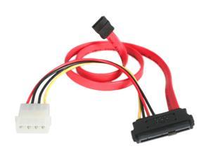 "StarTech Model SAS729PW18 18"" SAS 29 Pin to SATA Cable with LP4 Power"