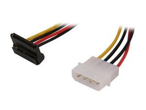 "StarTech SATAPOWADAPR 6"" 4 Pin Molex to Right Angle SATA Power Cable Adapter"