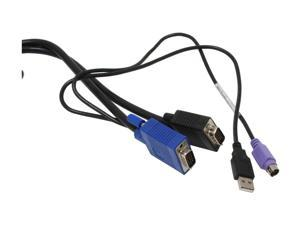 LINKSKEY 10 ft. 3-in-1 USB PS/2 KVM Combo Cable C-KVM-SC10