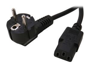 GWC Model ZP1DAD-FL 6 ft. European Power Cord Power Cord (CEE 7/7  to IEC-320-C13  Black)