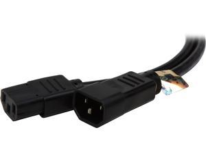 Tripp Lite Model P004-004-13A 4 ft. Black 16AWG SJT, 13A, 100-250V IEC-320-C14 to IEC-320-C13 Power Cord M-F