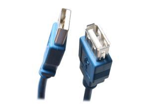 BYTECC USB2-10MF-B 10 ft. Blue Type A Male to Type A Female USB 2.0 Extension Cable