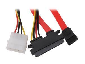 "BYTECC SATA-SP118 18"" Sata and Sata Power 7+15pin Cable, for Sata HDD, Sata OD"