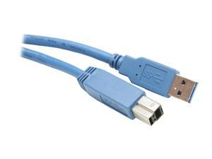 BYTECC USB3-03AB-B 3 ft. Blue USB 3.0 Cable - A Male to Type B Male