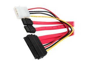 "BYTECC Model SAS2927 25"" Serial Attached SCSI (SAS) 29pin to 2x7pin Sata and Power Cord Cable"