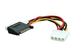 BYTECC SATA-2LP4F SATA Power Input 15pin to MOLEX 4pin + Floppy Power Adapter Cable
