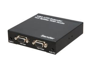 BYTECC VGASP102 VGA UTP Extender 1 x 2 Splitter w/ Audio