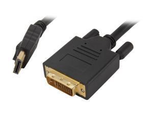 BYTECC DPDVI-10 10 ft. Black Display Port to DVI Cable M-M