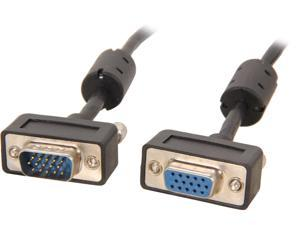 BYTECC SSVGA-25MF 25 ft. Micro SVGA Male Cable to Micro SVGA Female Cable HD15 with Ferrite Core - OEM