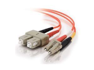 C2G 33014 1m LC/SC Duplex 50/125 Multimode Fiber Patch Cable - Orange