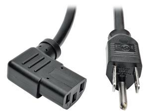 Tripp Lite Model P006-014-13RA 14 ft. Standard Computer Power Cord, 10A, 18AWG (NEMA 5-15P to Right Angle IEC-320-C13)
