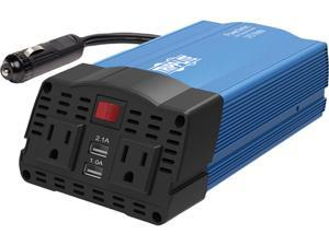 Tripp Lite 375 Watts Car Power Inverter 2 Outlets 2-Port USB Charging AC to DC (PV375)