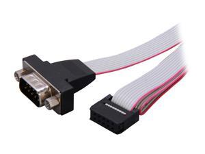 "StarTech Model PNL9M16 16"" 9 Pin Serial Male to 10 Pin Motherboard Header Panel Mount Cable M-F"