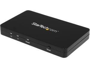 StarTech ST122HD4K HDMI Splitter 1 In 2 Out - 4k 30 Hz - 2 Port - Aluminum - HDMI Multi Port - HDMI Audio Splitter