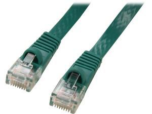 Coboc CY-CAT5E-05-Green 5ft. 30AWG Cat 5E Green Color 350MHz UTP Flat Ethernet Stranded Copper Patch cord /Molded Network lan Cable