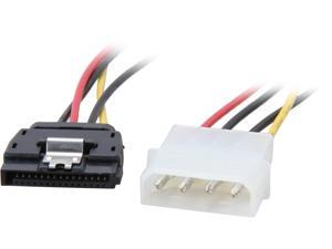 "Coboc SC-PWA-MOL-8-SATA-F-M-L 8"" Molex 4-pin LP4 Male to SATA 15-pin Femael w/Latch Power Adapter Converter"